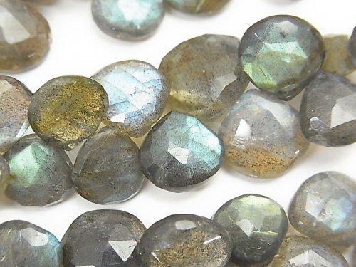 宝石質ラブラドライトAAA マロン ブリオレットカット 1/4連〜1連(約17cm)