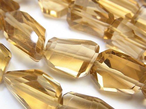 宝石質シャンパンクォーツAAA タンブルカット 3粒〜1連(約40cm)