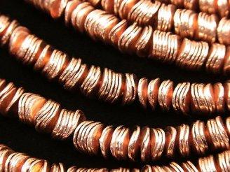 天然石卸 コッパー(銅) ロンデル6×6×1mm 半連/1連(約18cm)