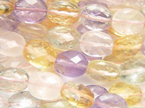 宝石質いろんな天然石AAA- オーバルカット10×8×5mm 1/4連〜1連(約38cm)