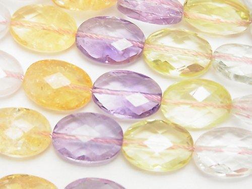 宝石質いろんな天然石AAA オーバルカット14×10×7mm 1/4連〜1連(約36cm)