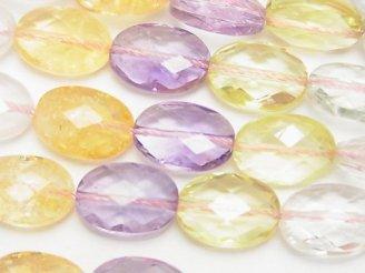 天然石卸 宝石質いろんな天然石AAA オーバルカット14×10×7mm 1/4連〜1連(約36cm)