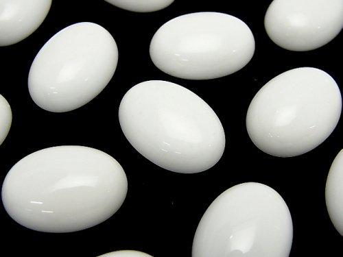 ホワイトオニキスAAA- オーバル カボション18×13mm 2個