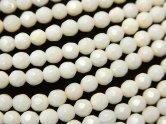天然石卸 1連880円!ホワイトコーラル(白サンゴ) ラウンドカット4mm 1連(約38cm)