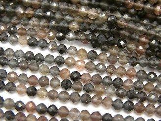 天然石卸 素晴らしい輝き!1連980円!宝石質スキャポライトAAA ラウンドカット3mm 1連(約38cm)