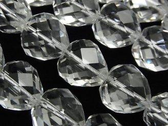 天然石卸 素晴らしい輝き!クリスタルAAA ハートカット15×15×13 1/4連〜1連(約37cm)