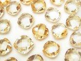 天然石卸 宝石質シトリンAAA 穴なしスクエアクッションカット8×8×4 5粒680円!