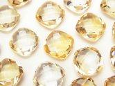 天然石卸 宝石質シトリンAAA 穴なしスクエアクッションカット10×10×5 4粒980円!