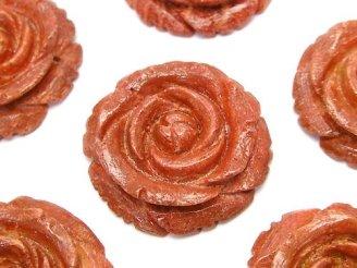 天然石卸 スポンジサンゴ 薔薇 30mm 1個1,180円!