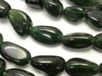天然石卸 1連1,380円!グリーンアパタイトAA+ タンブル 1連(約38cm)