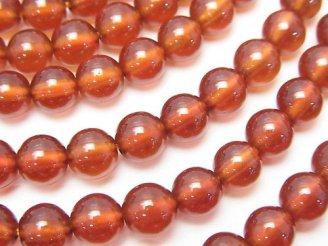 天然石卸 宝石質ヘソナイトAAA ラウンド6mm 半連/1連(約37cm)