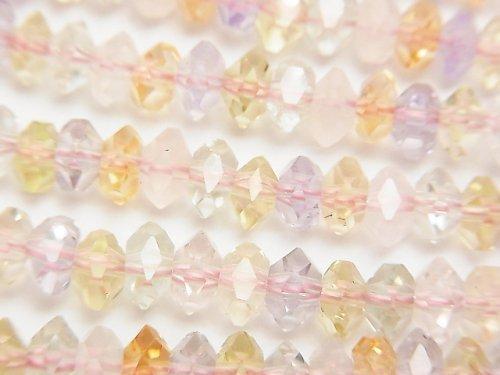 【素晴らしい輝き】宝石質いろんな天然石AAA ボタンカット6×6×3mm 1/4連〜1連(約38cm)