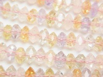 天然石卸 素晴らしい輝き!宝石質いろんな天然石AAA ボタンカット6×6×3mm 1/4連〜1連(約38cm)