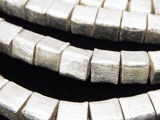 天然石卸 コッパー(銅) キューブ8×8×8mm シルバー 半連/1連(約18cm)