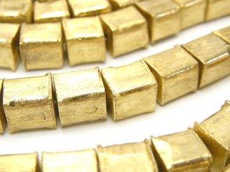 天然石卸 コッパー(銅) キューブ8×8×8mm アンティーク仕上げ 半連/1連(約17cm)