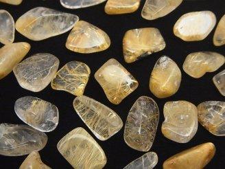 天然石卸 ルチルクォーツAA++〜AA+ 穴なし小粒チップ(さざれ) 100グラム480円〜!