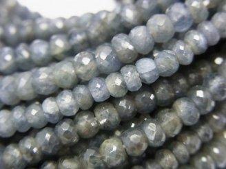 天然石卸 非加熱サファイアAA++ ボタンカット 半連/1連(約34cm)