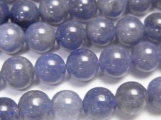 天然石卸 ◆特価◆高品質タンザナイトAAA ラウンド8mm 1/4連〜1連(約38cm)