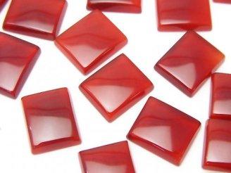 天然石卸 レッドアゲートAAA レクタングル型カボション 12×10 2粒180円!