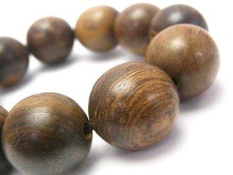 天然石卸 1点もの!マレーシア産沈香木 大粒ラウンド20mm 1連(ブレス)