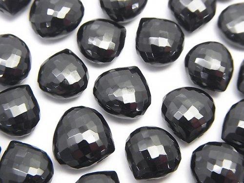 【粒売り】【極上カット】宝石質ブラックスピネルAAA マロン ブリオレットカット 3粒