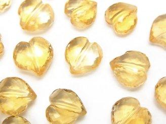 天然石卸 粒売り!宝石質シトリンAAA ライン入りハートカット 【S〜M】【M〜L】 3粒〜!