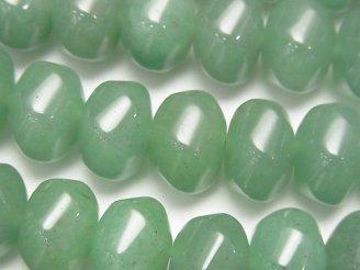 天然石卸 グリーンアベンチュリン 6面ツイスト×ボタンカット14×14×10 半連/1連(約37cm)