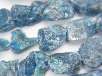 天然石卸 1連1,680円!ブルーアパタイト ラフロック タンブル 1連(約37cm)