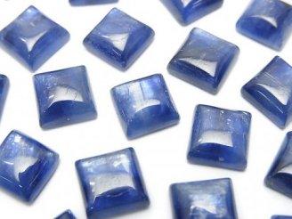 天然石卸 高品質カイヤナイトAAA スクエア型カボション8×8×3 3粒980円!