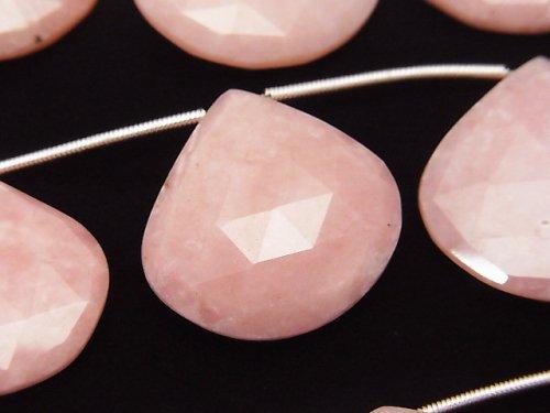 1連7,980円!宝石質ピンクオパールAAA 大粒マロン ブリオレットカット 1連(約8cm)
