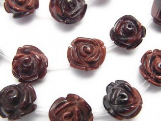 天然石卸 レッドタイガーアイAAA- 薔薇(ローズ)【8mm】【10mm】【12mm】 半連/1連(約38cm)