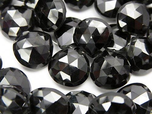 宝石質ブラックスピネルAAA 大粒マロン ブリオレットカット 半連/1連(約18cm)