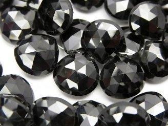 天然石卸 宝石質ブラックスピネルAAA 大粒マロン ブリオレットカット 半連/1連(約18cm)
