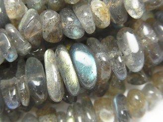 天然石卸 1連980円!高品質ラブラドライトAAA〜AA++ ミニタンブル(チップ) 1連(約38cm)