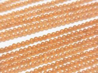 オレンジアベンチュリン 極小ラウンド2mm 1連(約38cm)