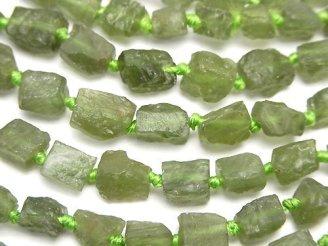 天然石卸 1連1,680円!グリーンアパタイト ラフロック タンブル 1連(約37cm)