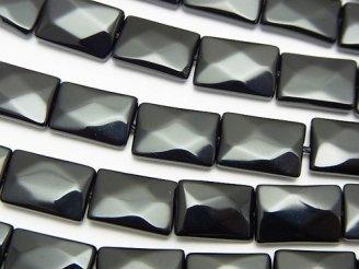 天然石卸 オニキス レクタングルカット12×8×4mm 半連/1連(約36cm)