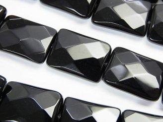 天然石卸 オニキス レクタングルカット18×13×5 半連/1連(約35cm)