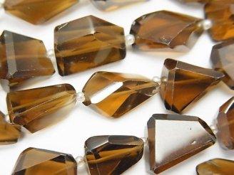 天然石卸 宝石質ウイスキークォーツAAA〜AAA- タンブルカット 半連/1連(約34cm)