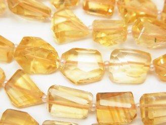 天然石卸 宝石質シトリンAAA-〜AA++ タンブルカット 半連/1連(約34cm)