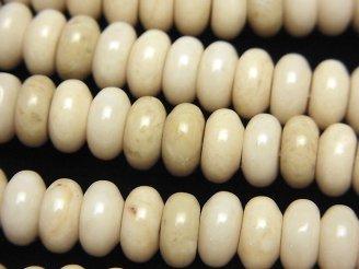 リバーストーン ロンデル(ボタン)8×8×4mm 半連/1連(約38cm)