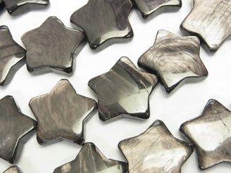 天然石卸 ハイパーシーン(スターエンスタタイト) スター(星)20×20×6 半連/1連(約36cm)