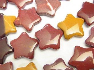 天然石卸 ムーアカイト スター(星)20×20×6mm 半連/1連(約36cm)