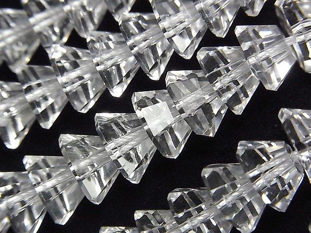 【素晴らしい輝き】クリスタルAAA ピラミッドカット10×10×5mm 1/4連〜1連(約38cm)