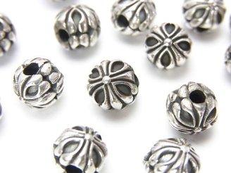 天然石卸 Silver925 デザインロンデル7×7.5×7.5mm 1個680円!