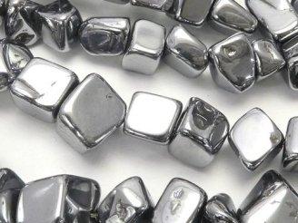 天然石卸 1連580円!高純度テラヘルツ鉱石 ミニタンブル(チップ) 【Mサイズ】 1連(約37cm)