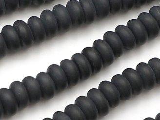 天然石卸 1連780円!フロストオニキス ロンデル(ボタン)6×6×3 1連(約38cm)