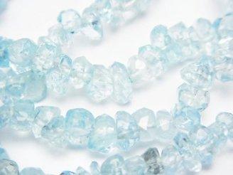 天然石卸 問屋 販売|ケンケンジェムズ ドットコム 1連1,580円!宝石質アクアマリンAAA〜AAA- チップ(ミニタンブル) 1連(ブレス)