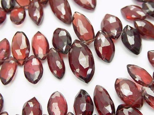 宝石質モザンビークガーネットAA++ マーキス ブリオレットカット 1連(約17cm)
