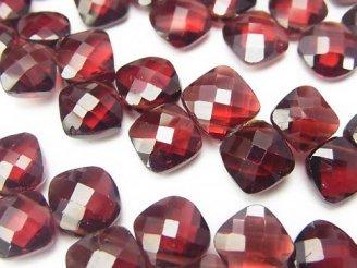 天然石卸 宝石質モザンビークガーネットAAA ダイヤカット 半連/1連(約18cm)